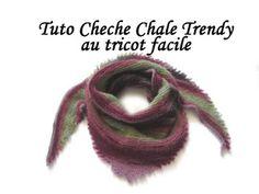 Les tutos de Fadinou: TUTO TRICOT : CHALE BORDURE PICOT AU TRICOT FACILE