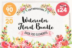 Watercolor Floral Bu