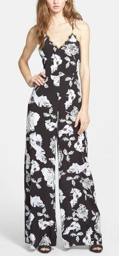 Totally obsessed with this chic floral and lace jumpsuit.
