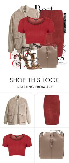 """""""Untitled #1199"""" by noviii ❤ liked on Polyvore featuring H&M, Jitrois, Topshop, Alexander Wang and Dsquared2"""