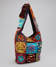 Take a look at this Blue & Red Peace Shoulder Bag by Rising International on #zulily today!