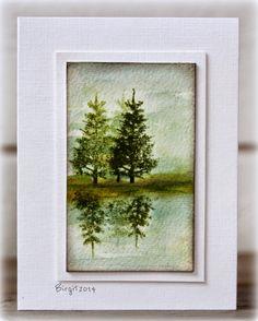 Reflection technique. Penny Black Prancers, the best evergreen images yet. Rapport från ett skrivbord