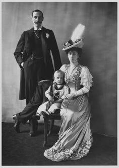 King Haakon, Prince Olav and Queen Maud