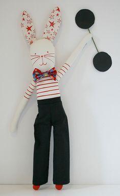 circus rabbit by MIKO DESIGN, via Flickr