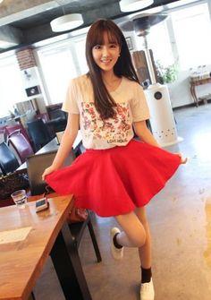 Cute Round-neck Printing Short Sleeve T-shirt Pink