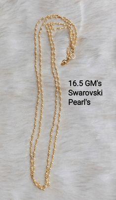Jewelry Design Earrings, Gold Earrings Designs, Bead Jewellery, Necklace Designs, Pendant Jewelry, Jewelry Necklaces, Beaded Necklace, Gold Necklace, Gold Jewelry Simple