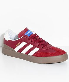 new concept d51c6 201b2 adidas Busenitz Vulc Samba RX Burgundy   White Shoes. Zapatillas ...