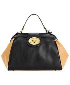 Emma Fox Handbag, Classic Top Handle Leather Frame Satchel