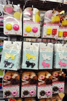 Come in kawaii animal, smiley faces, lego and donuts! Daiso Japan Products, Japanese Store, Cable Organizer, Diy Projects To Try, Dory, Dollar Stores, Harajuku, The 100, Desktop