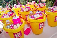 Another cute idea for favors for your pool party.@Darcie Hartford Hartford Ballenger birthday idea