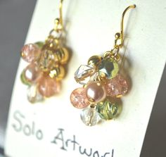 Golden Pastels Earrings  #handmade  #thecraftstar  $35.00