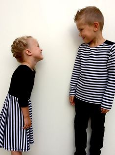 806974074dc Striped twirl dress. Girls dress. Modern Baby Clothes