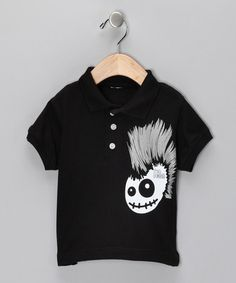 Take a look at this Black Skully Hawk Polo - Toddler & Boys  by Micro Me on #zulily today!