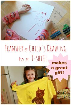 T-Shirt Transfers :: Iron a Fave Child's Drawing onto a T-Shirt