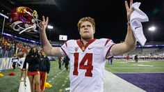 Sam Darnold, USC's quarterback, has just rose to the top of the Heisman rankings Image source: http://defpen.com/wp-content/uploads/2016/12/Sam-Darnold.jpg