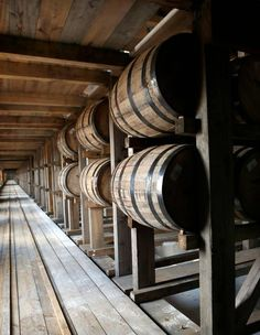 05-18-2016 Kentucky bourbon makers filled almost 1.9 million barrels in 2015, a 44 percent increase over the previous year according to state revenue data and the Kentucky Distillers' Association. These barrels are in a warehouse at the Heaven Hill Distillery in Bardstown.