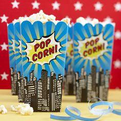Popcorn Boxes - Pop Art Superhero Party. £3.99, via Etsy.