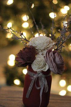Items similar to Red Mason Jar Floral Arrangement, Twigs on Etsy Mason Jar Arrangements, Winter Floral Arrangements, Wedding Centerpieces Mason Jars, Artificial Flower Arrangements, Wedding Flower Arrangements, Floral Centerpieces, Wedding Flowers, Wedding Decorations, Wedding Ideas