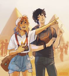 Sadie and Anubis // The Kane Chronicles // Art by viria Percy Jackson Fan Art, Percy Jackson Memes, Percy Jackson Books, Percy Jackson Fandom, Viria Percy Jackson, The Kane Chronicles, Anubis Kane Chronicles, Rick Riordan Series, Rick Riordan Books