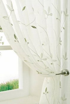 Variety Green  sheer fabric, £9 per metre or from £54 for made to measure curtains