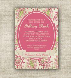 vintage #Victorian baby shower invitations $12 www.cardtopiadesigns.com
