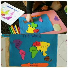 Best The World And Continents Craft Ideas Project For Kids To