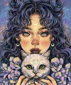 Image discovered by Find pictures and videos about art, cats and drawings . - Image discovered by Find pictures and videos about art, cats and drawings … – – - Art And Illustration, Landscape Illustration, Animal Illustrations, Character Illustration, Psychedelic Art, Inspiration Art, Art Inspo, Pretty Art, Cute Art