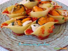 Conchiglioni ripieni di pesce al forno  #ricette #food #recipes