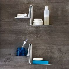 Made in Italy by Arblu. The Tulip Shelf is an instant eye-catching addition to any room in the house. This dual-leveled shelf provides a unique design without sacrificing functionality. This easy to install, versatile shelf can be used on its own or in conjunction with several others for a modular design with plenty of storage space. Select the ideal color for your modern bathroom. Modern Bathroom Light Fixtures, Modern Bathroom Decor, Plumbing Fixtures, Bathroom Fixtures, Bathrooms, Wooden Bathroom Vanity, Bathroom Shelves, Wall Mounted Shelves, Shelf