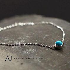 c9f6b062d8247 Tuiquoise Silver Bracelet Chain Bracelets Gift Jewelry Accessories Women