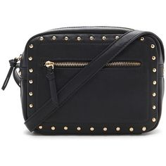 Forever 21 Studded Faux Leather Crossbody ($23) ❤ liked on Polyvore featuring bags, handbags, shoulder bags, forever 21 purse, crossbody handbags, faux-leather handbags, studded purse and forever 21 handbags
