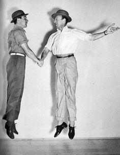 Fred Astaire, American born (1899-1987). Dancing with Gene Kelly. These two were actually good friends, not rivals, as many have portrayed. They danced together in only TWO movies - Zeigfield Follies & That's Entertainment 2....