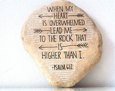 Hand Scripted River Stone, Black and White Painted Rock, Scripture Stones, Poetry Stones,  Encouraging Stones, Decorative Stones