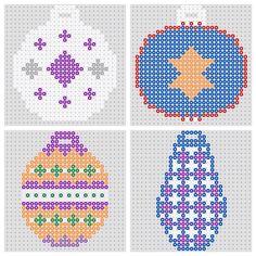 Christmas Hama Bead Tree Ornaments | Hama Bead Bauble Designs | BeadMerrily Hama Bead Designs