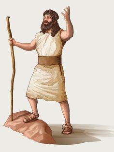 John the Baptist Jesus Christ Images, Jesus Art, Indian Sign Language, Animated Bible, Bible Cartoon, Idees Cate, Bible John, Bible School Crafts, Bible Stories For Kids