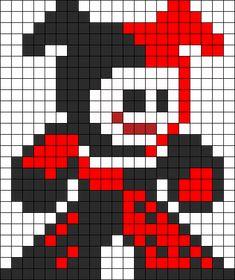 Harley Quinn Perler Bead Pattern