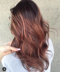 Rose Gold Brunette Balayage