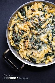 A complete list of low FODMAP recipes to go along with your diet plan, plus other tips for putting low FODMAP foods to work in the kitchen. Healthy Mac N Cheese Recipe, Healthy Gluten Free Recipes, Gluten Free Pasta, Fodmap Recipes, Diet Recipes, Cream Recipes, Recipes For Ibs, Diet Tips, Crohns Recipes