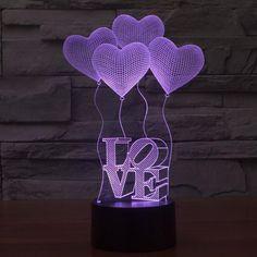 Romantic 3D LED Table Lamp NEW 2017 //Price: $19.99 & FREE Shipping // #hashtag2