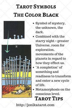 #Tarot #Tips, The Color BLACK in Tarot. http://jonikatarot.com Sign up for my newsletter | follow my blog | book a Tarot reading