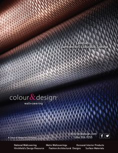Graphic Design And Photography For Colour Designs ZunaTM Wallcovering Advertisement In The June 2014 Issue Of Interior Magazine Bcreat