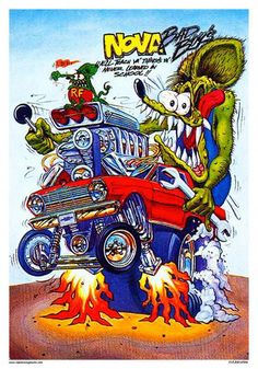 Another classic Rat Fink print. Rat Fink Old School Nova! Measures 14 x Printed on coated card stock. Ships well packed in a sturdy stay flat envelope. I do combine shipping. Please ask any questions before buying. Rat Fink, Rat Rods, Ed Roth Art, Rat Rod Pickup, Cool Car Drawings, Volkswagen Karmann Ghia, Garage Art, Best Classic Cars, Big Trucks