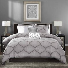 Enhance the look of your contemporary bedroom with this Madison Park Vella six-piece duvet cover set. Made of 100 percent polyester, this soft duvet cover set adds a layer of comfort to any bed. With