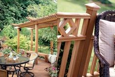 Terrace and railing design – ideas for a modern terrace design - Decoration 2020 Balustrade Balcon, Terrasse Design, Railing Design, Terrace, Modern Railing, Design Design, Design Ideas, Outdoor Structures, Wood Decks