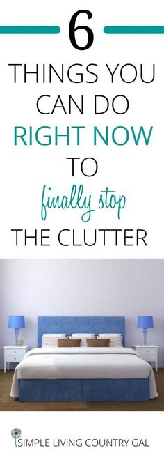 How to finally get rid of the clutter in your home! Tips to declutter your home right now. Easy tips you can do no matter what your home looks like! From easy to hard, learn to cut the clutter. via Simple Living Country Gal Getting Rid Of Clutter, Getting Organized, Organizing Your Home, Home Organization, Organising, Organization Ideas, Organizing Tips, Storage Ideas, Planners