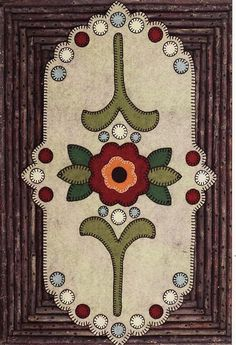 Image result for Christmas Penny Rug Patterns
