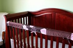 DIY Crib Rail guard protector- instead of bumper pads!