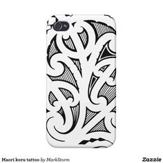 Purple blue traditional Maori tattoo design Case-Mate