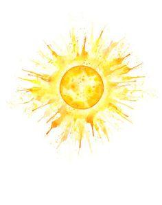 sun tattoo watercolor - Google Search