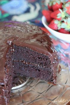 Chocolate Buttermilk Layer Cake. This is the perfect cake for the imperfect baker. This recipe makes cake is moist and decadent and nearly fail-proof.